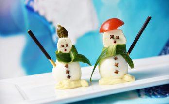 Schneemann aus Eiern