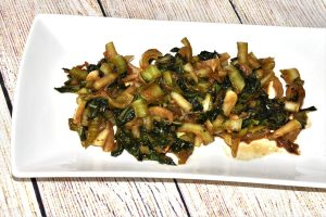 Pak Choi Gemüse in leckerer Sojasauce