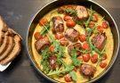 Schweinefilet in leckerer Curry-Rahmsauce