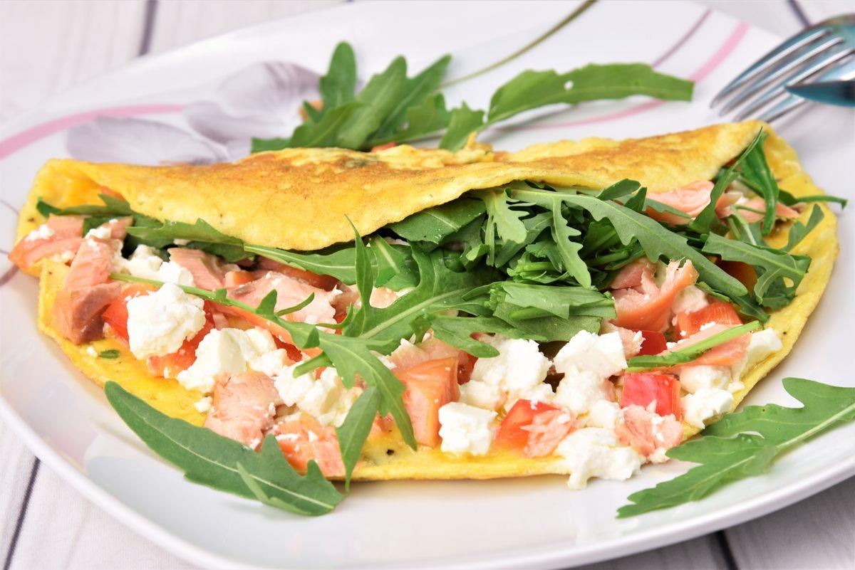 Omelett mit Stremellachs