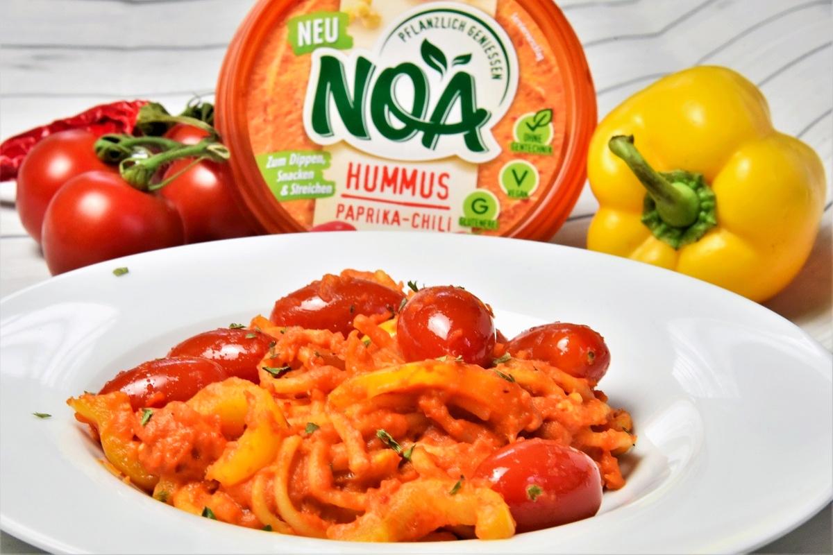 Vegane Spaghetti mit NOA Hummus